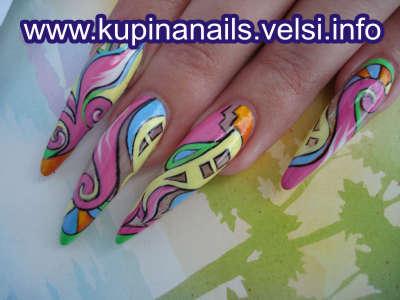 Ногти дизайн абстракция просто