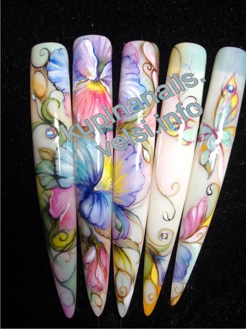 Ногти акварель
