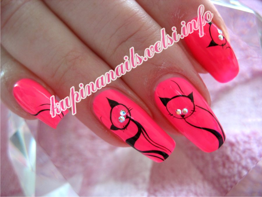 Фото роспись японская на ногтях