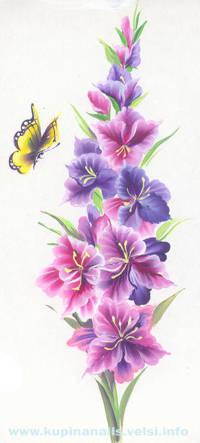 Чем больше вы сможете найти оттенков в гладиолусе, тем красивее будет цветок на ногтях.
