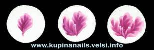 Маникюр, пошагово рисуем пион, китайская роспись ногтей.