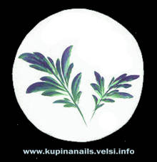 Маникюр, рисунок на ногтях листьев пиона по китайской технологии росписи ногтей.