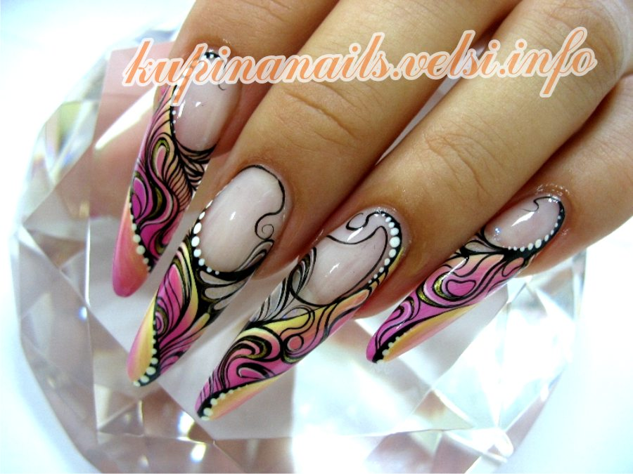 Дизайн на гелевых ногтях пошаговое фото