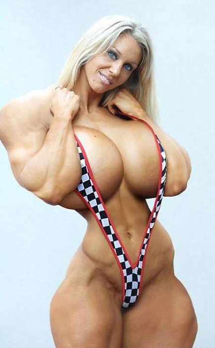 мускулы и маленькие сиськи