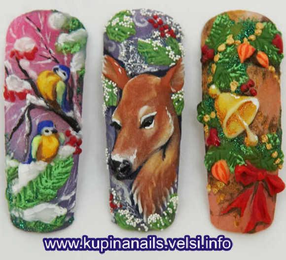 дизайн ногтей зима 2014, ногти дизайн 2013