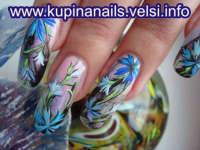 Василек фото на ногтях