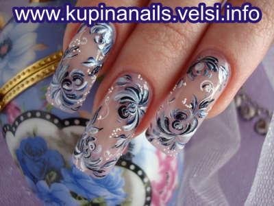 Дизайн длинных ногтей шеллаком фото
