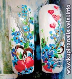 Салатовые ногти дизайн фото